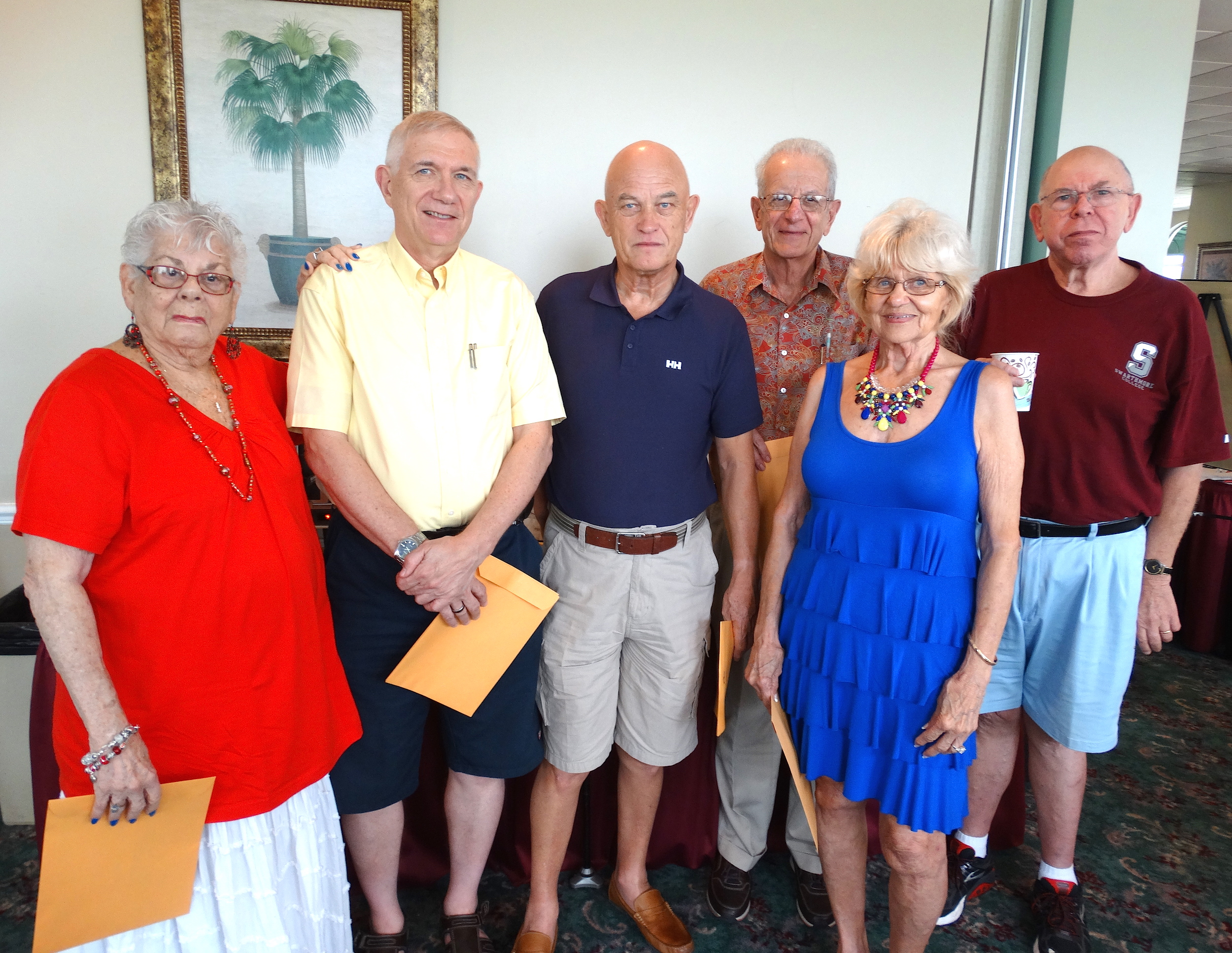 Ace of Clubs Winners - Libby kaufman Terry McHenry Vic Lawrence George Agnacian Joyce Leibelt Dave Wicentowski